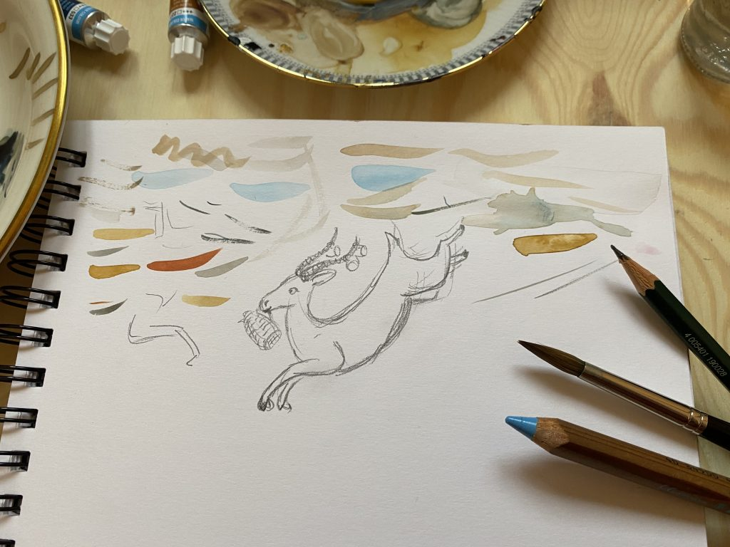 Antilopen Skizze